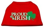 Proud to be Irish Screen Print Shirt Red XL